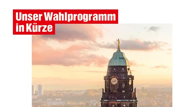 Die Linke Dresden: Wahlkampf-Faltblatt für Stadtratwahl 2019